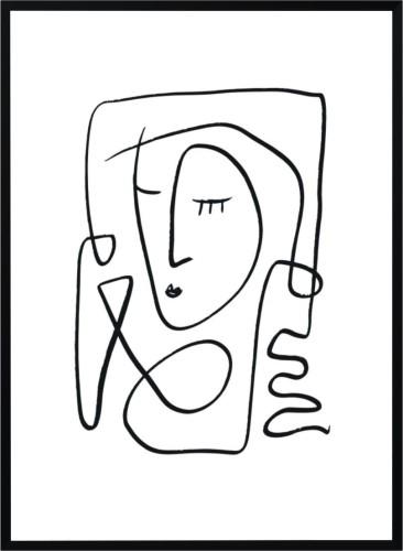 Plakat Skandynawski Szkic Kobiety
